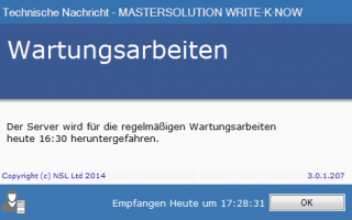 MASTERSOLUTION WRITE·K·NOW - Receive a Message